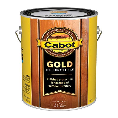 Cabot 3471-07 3471 1 Gallon Sunlit Walnut Wood Finish, Gallon