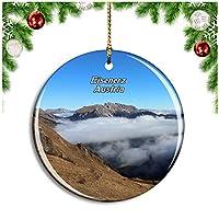 アイゼナーツオーストリアクリスマスデコレーションオーナメントクリスマスツリーペンダントデコレーションシティトラベルお土産コレクション磁器2.85インチ