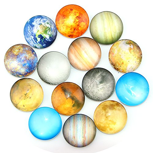 Ktdorns Planetary Fridge Magnets -14 Pack Refrigerator Magnets, Office Magnets, Calendar Magnet, Whiteboard Magnets,Perfect Decorative Magnet Set with Storage Box (Refrigerator Magnets)