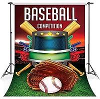 HD7x10ft野球綿の背景写真コンテストのテーマパーティーポートレート写真撮影小道具バナー装飾LHFS081の野球バットグローブの背景