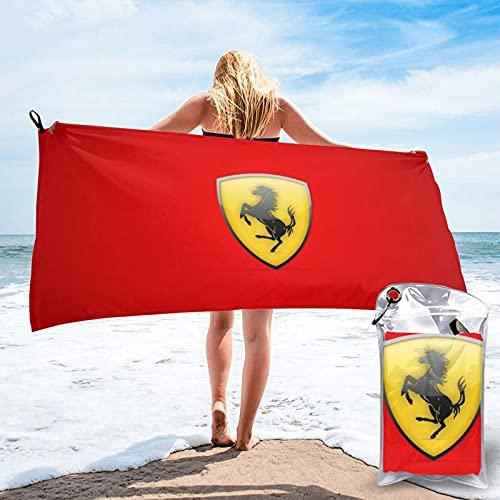Toalla de baño de microfibra grande Ferrari para playa, ligera, deportiva, viajes, gimnasio, verano