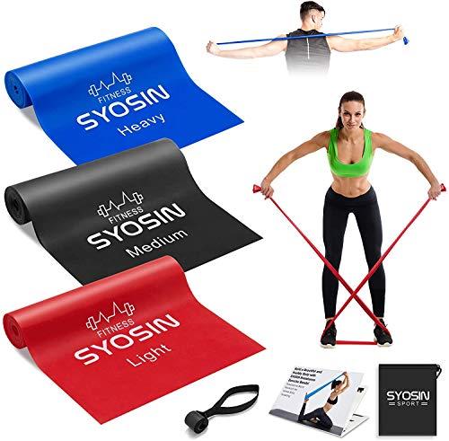 SYOSIN Bandas Elasticas Fitness 3 Piezas Bandas Ejercicio