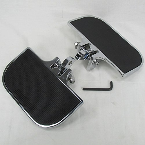 """Chrome Mini Floorboards for MOST 1983-2009 Harley Davidson FL FLH and MANY MORE MODELS with 1/2"""" Clevis Style Mounts - Chrome - Motorcycle Chopper Bobber"""