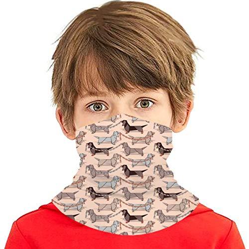 hdyefe Origami Dachshunds - Pañuelo reutilizable para perros con salchichas y carne, diseño de perro salchicha