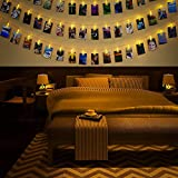 LED Fotolichterkette Photoclips Clip Bilder Lichterkette 40 LEDs Fotolichter Kette Idoline