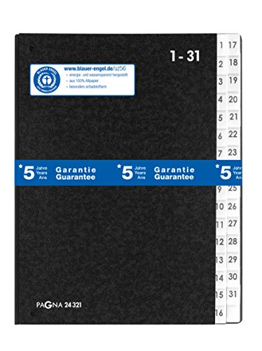 Pagna Pultordner Classic (Pultmappe, 32 Fächer, 1-31) schwarz