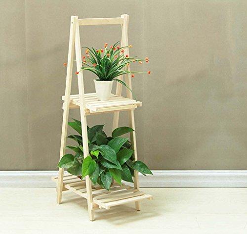 balcon pliage de fleurs de bois multicouche simple étage bonsaïs fleur de vie moderne ( Couleur : Brass )