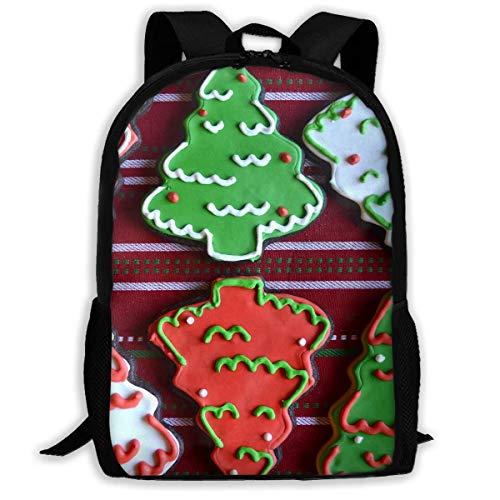 NA Rugzak Voor Meisjes Jongens Chocolade Kerstboom Suiker Cookies Rits School Boekentas Dagtas Reizen Rugzak Gym Tas Voor Man Vrouwen