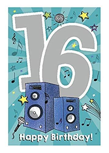 Depesche 5698.026 - Glückwunschkarte mit Musik, 16. Geburtstag