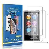 CUSKING iPod Nano 7 硬度9H 強化ガラスフィルム Apple iPod Nano 7 専用設計 ガラスフィルム オイル防止 耐衝撃 指紋防止 超薄0.26mm 液晶保護フィルム【3枚セット】