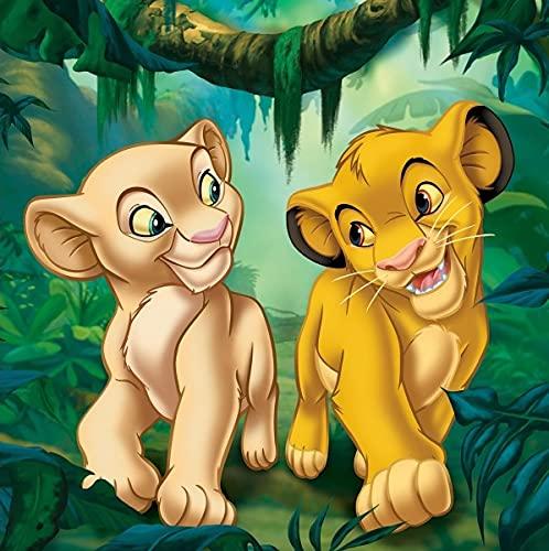 NEU 3D 5D Disney Der König der Löwen Simba Diamantmalerei Mosaik Kit 25cm x 25cm