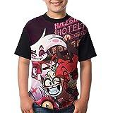 maichengxuan Camisetas de Manga Corta, Youth Tops Graphic Hazbin Hotel D T Shirts Short Sleeve tee Shirts Cute T-Shirt for Boys/Girls XL