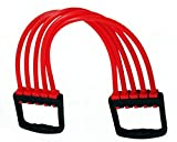 Manogyam CE 02 Rubber Adjustable 5 Silicone Stripes Chest Expander Resistance Tube (Multicolour)