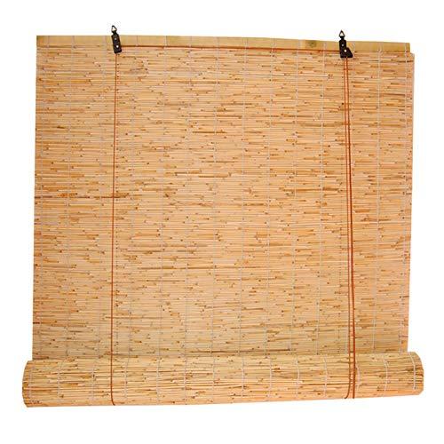 GeYao - Cortinas de caña tejidas a mano, estilo retro, natural, de bambú, transpirable, para interiores y exteriores, patio, restaurante, casa de té (tamaño: 130 x 350 cm)