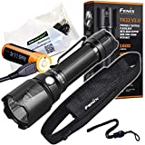 Fenix TK22 V2 1600 Lumen high powered long throw LED flashlight, rechargeable battery with EdisonBright USB charging cable bundle