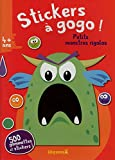 Stickers à gogo - Petits monstres rigolos (Fond rouge)