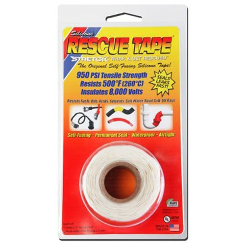 2 Pack - Brand Rescue Tape Model USC03 Self-fusing Silicone Tape (Clamshell White, 1-Inch by 12-Feet)