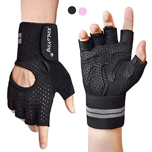 Fitself Fitness Handschuhe Trainingshandschuhe Gewichtheben Handschuhe mit Handgelenkstütze für Kraftsport Crossfit Workout Herren Damen