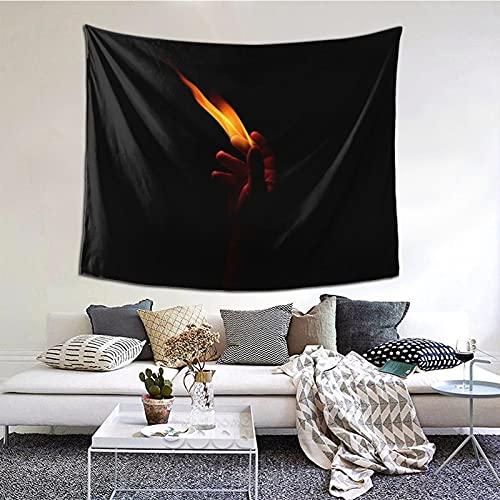 Tapiz negro mágico de mano para colgar en la pared, para ventana, decoración del hogar, cortina para dormitorio, collage de dormitorio, oficina, 152 x 152 cm