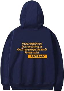 QUIQUOL ATEEZ Pullover Pullover a Maniche Lunghe in Cotone con Maniche Lunghe for Uomo e Donna Primavera e Autunno Unisex
