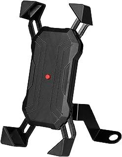 Suporte de telefone celular para scooter com rotação de 360 graus, suporte para navegador de motocicleta para telefone (pr...