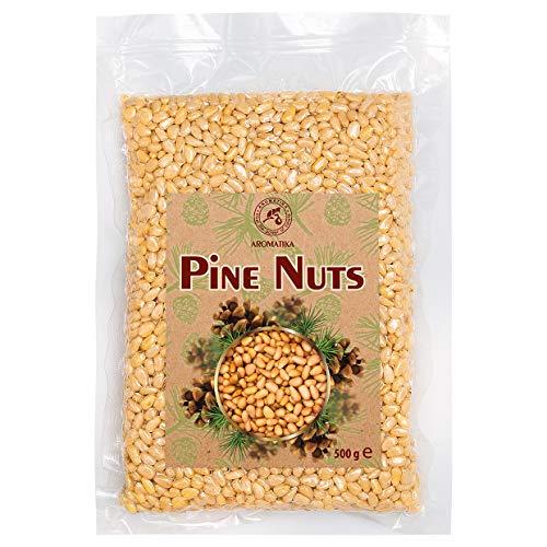 Pinienkerne 500g - Natürliche Sibirische Zedernüsse - Zedernkerne ohne Schale - Pinienkerne für Pesto - Sibirische Pinienkerne für Essen & Kochen