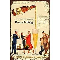 メタルティンサインはビールの装飾バーパブホームヴィンテージレトロをもたらします-20x30cm