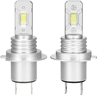 H7 LED Fog Light Bulb CSP Chips LED Fog Lamp Bulbs 5000LM 6000K White Extremely Bright LED Car Headlights 2Pack
