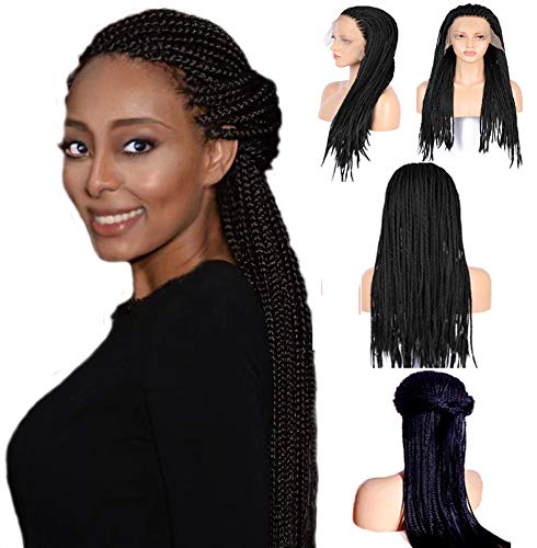 Long Box Braid Lace Front Wig Braids Micro Million African Braided Wigs for Women and Girls