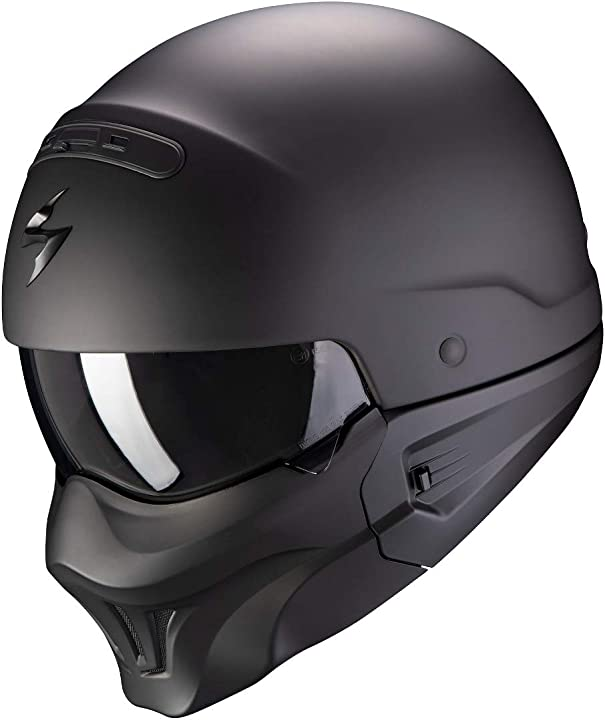 Casco moto scorpion exo-combat evo solid matt black xs 85-100-10-02