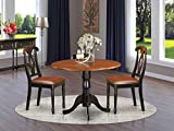 3 PC Kitchen Table set-Dining Table and 2 Kitchen Chairs