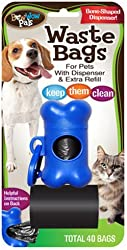 Bow Wow Waste Bags with Dispenser and Extra Refill