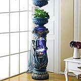 JIANGU Aquarium Acrylique cylindrique de Style européen, réservoir d'eau d'aménagement paysager de Salon
