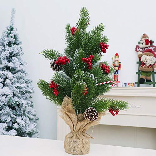 CHYU Weihnachtsbaum, Künstlicher PVC Weihnachtsbaum Tannenbäume Christbaum, Echte Tannenzapfen, inkl Metallständer (50CM)
