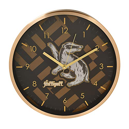 HARRY POTTER Reloj de Pared Hufflepuff Analógico Ø29.5cm Negro Amarillo