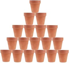 Kosrtuny 3 Inches Terracotta Clay Pots Pack of 18 pcs- Pottery Fleshy Flower Planter with Drainage Hole,for DIY Home and O...
