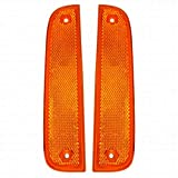 For Jeep Cherokee Side Marker Light Assembly Unit 1997-2001 Pair Driver and Passenger Side   CH2550118 + CH2551118