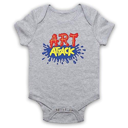 My Icon Art & Clothing Art Attack Kids TV Logo Buchanon Costume - Pelele para bebé gris 12-18 Meses