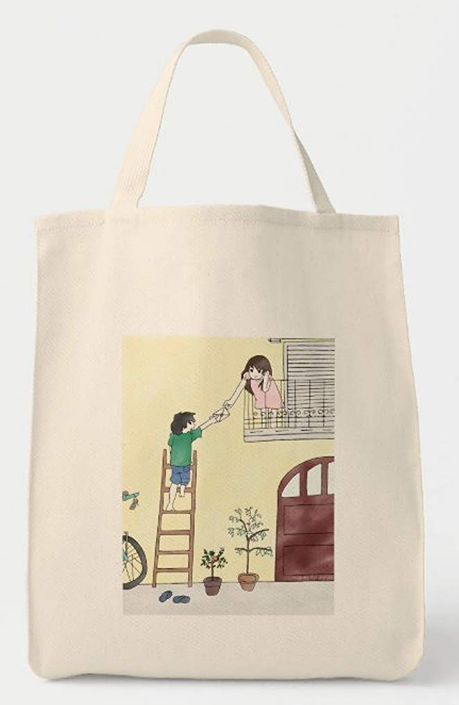 Detroit Max 58% OFF Mall The Very First Love Letter Tote Art Bag Valentine Romantic