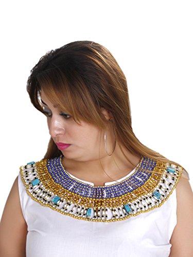 Egypt Bazar Prächtiges Collier im Pharaonen-Stil Cleopatra mit Klippschließe Bauchtanz-Schmuck Fasching