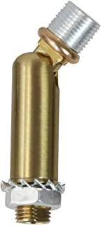 MELUCEE Brass Sloped Ceiling Adapter for Chandeliers Pendant Lights 1 Pcs, Suitable for Vaulted or Angled Ceilings