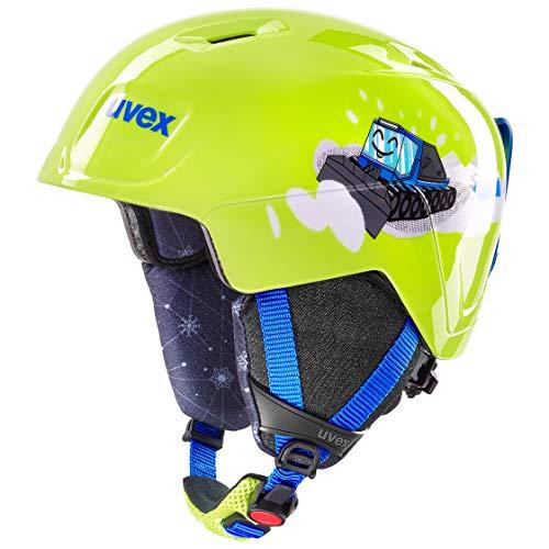 Uvex unisex jeugd manic skihelm, groen, 51-55 cm