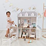 Olivia's Little World Traumland-Bauernhaus 12' Doll House - Whtie / Grau TD-12901A