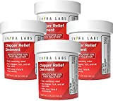 Evora Labs Chigger Ointment - Bug Bite Itch and Pain Relief Skin Care Cream with Aloe Vera and Benzocaine - 4 Pack - Fast-Acting and Easy-to-Store