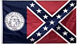 Dimike Old Georgia Flag Georgia State for Patriotes 3x5ft banner