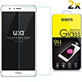 [2-Pack]-KHAOS For Huawei Honor 8 Premium Tempered Glass Screen Protector [Anti-Scratch] [Anti-Fingerprint] [Bubble Free] (For Huawei Honor 8)