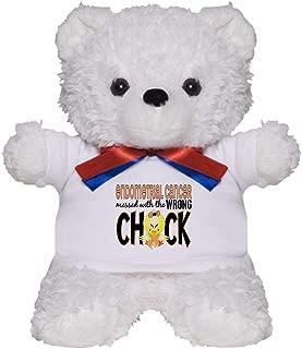 CafePress Endometrial Cancer Messed with Wrong Chick Teddy B Teddy Bear, Plush Stuffed Animal