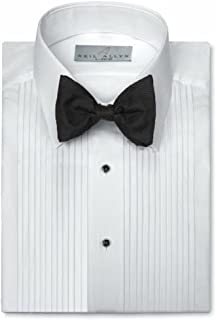Neil Allyn Mens Tuxedo Shirt Poly/Cotton Laydown Collar 1/4 Inch Pleat