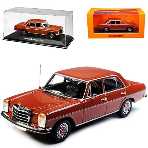 Minichamps Mercedes-Benz 200 /8 Strich Acht Limousine Rot Braun W114 W115 1967-1976 1/43 Maxichamps Modell Auto