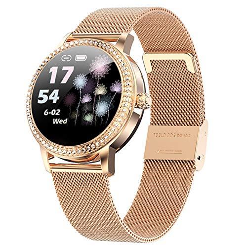 LW20 Ladies Smart Watch Diamond Smart Watch Ladies Cute Sports Watch IP68 Impermeable Pulsera Fitness Pulsera Tarifa cardíaca Regalo,B
